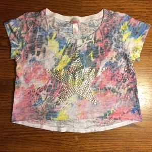 Justice cropped t-shirt